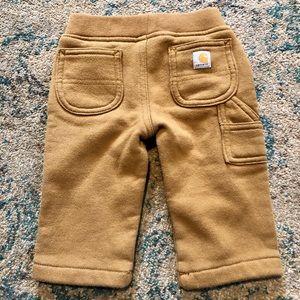 *2/$15* Carhartt brown sweatpants 6 months